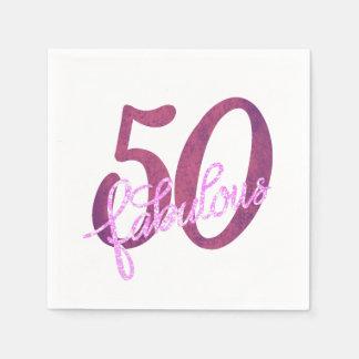 Serviette En Papier cinquantième Pourpre rose   50 et partie moderne
