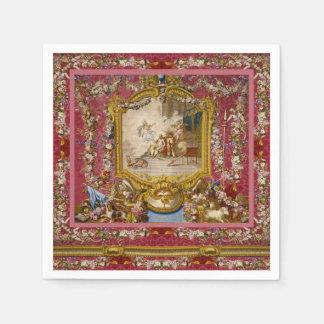 Serviette En Papier Classique français de Vieux Monde baroque Girly de