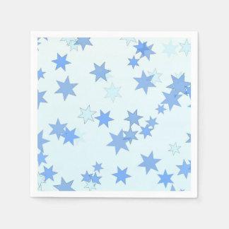 Serviette En Papier Conception d'étoiles bleues