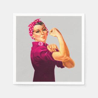 Serviette En Papier Conscience Rosie de Cancer le rivoir