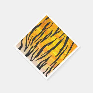 Serviette En Papier Copie noire et orange de tigre