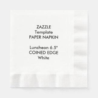 """Serviette En Papier Coutume 6,5"""" modèle inventé de serviette de"""