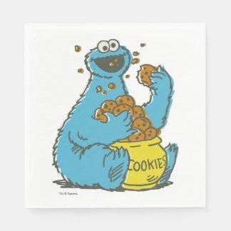 Serviette En Papier Cru de monstre de biscuit