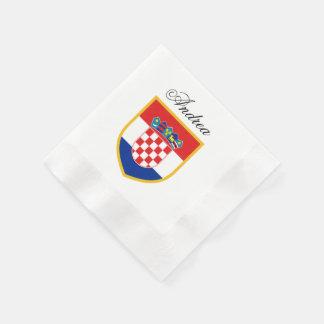 Serviette En Papier Drapeau de la Croatie personnalisé