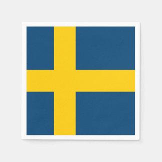 Serviette En Papier Drapeau de la Suède