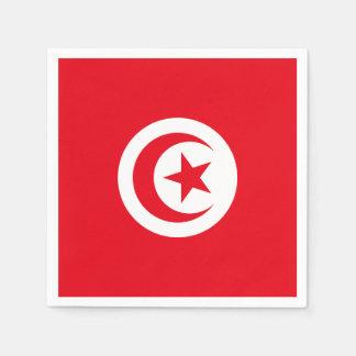 Serviette En Papier Drapeau de la Tunisie