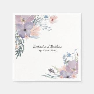 Serviette En Papier Épouser floral de fleurs sauvages de pré violet