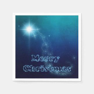 Serviette En Papier Étoile de ciel de Noël de Bethlehem - serviette de