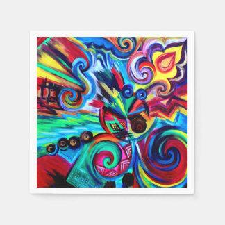 Serviette En Papier Explosion de couleur