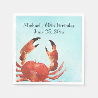 Serviette En Papier Fête d'anniversaire d'ébullition de crabe de