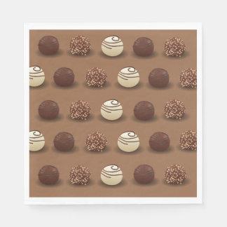 Serviette En Papier Fête d'anniversaire superbe de chocolat sucré