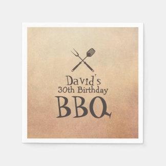 Serviette En Papier Fête d'anniversaire vintage de BBQ