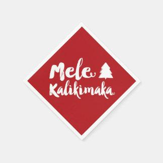 Serviette En Papier Fête de vacances d'arbre de Noël de brosse de Mele