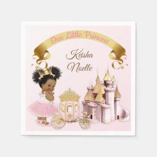 Serviette En Papier Fille royale de princesse Castle Carriage Pink