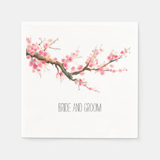 Serviette En Papier Fleurs de fleurs de cerisier