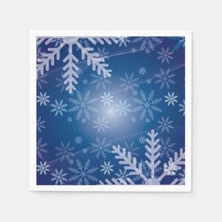 Serviette En Papier Flocons de neige dans le bleu