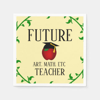 Serviette En Papier Future obtention du diplôme personnalisée Apple de