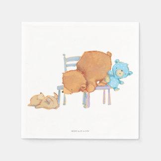 Serviette En Papier Grand ours de Brown, calicot, et chaises souples