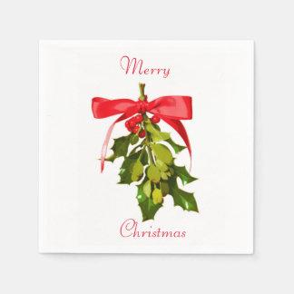 Serviette En Papier gui de Joyeux Noël