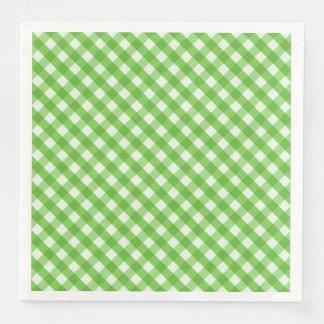 Serviette En Papier Guingan vert