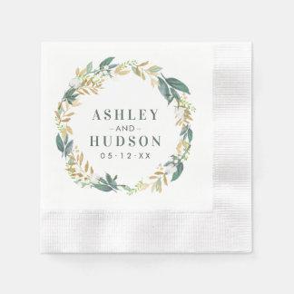 Serviette En Papier Guirlande de fleurs de neutre des serviettes   de