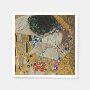 Serviette En Papier Gustav Klimt Le Baiser