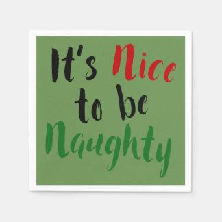 Serviette En Papier Il fait beau d'être Noël effronté vilain