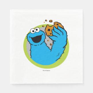 Serviette En Papier Image de monstre de biscuit