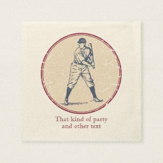 Serviette En Papier Joueur de baseball vintage