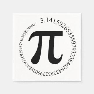 Serviette En Papier Jour de pi (π)