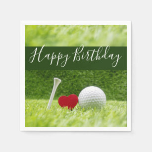 Articles Joyeux Anniversaire De Golf De Maison Decoration Zazzle Fr
