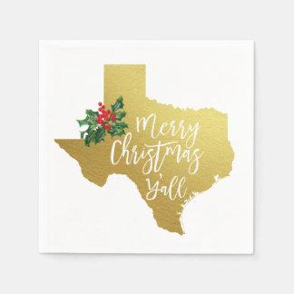 Serviette En Papier Joyeux Noël vous serviettes d'état du Texas