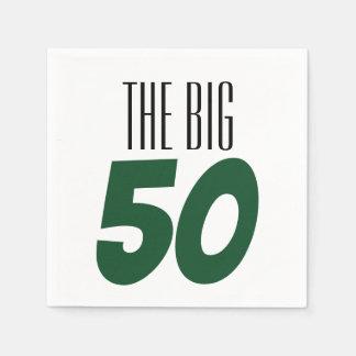 Serviette En Papier La grande serviette de fête d'anniversaire 50