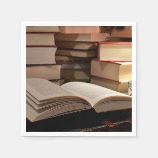 Serviette En Papier La pile de livre de TBR