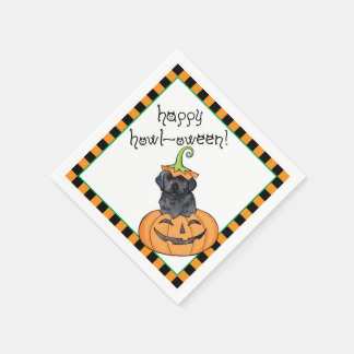 Serviette En Papier Laboratoire noir de Halloween