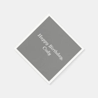 Serviette En Papier Le gris a personnalisé toutes les serviettes
