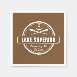 Serviette En Papier Le lac Supérieur, ville faite sur commande, nom,