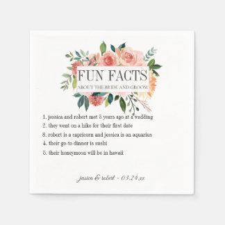 Serviette En Papier Les anecdotes amusantes rougissent floral