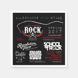 Serviette En Papier Let_Them_Rock_Allegiance_to_the_Stage_Napkins