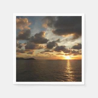 Serviette En Papier Lever de soleil en Îles Vierges américaines de St
