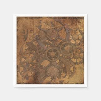 Serviette En Papier L'horloge embraye l'art de Steampunk