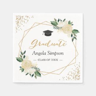 Serviette En Papier L'or scintille la fête de remise des diplômes