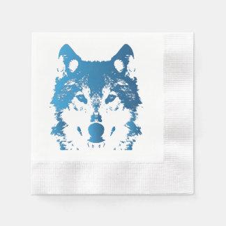 Serviette En Papier Loup de bleu glacier d'illustration