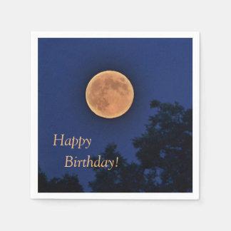 Serviette En Papier Lune de récolte de joyeux anniversaire