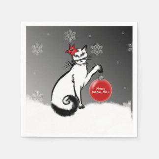 Serviette En Papier Madame Cat