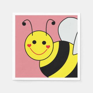 Serviette En Papier Mignon gaffez le rose d'abeille
