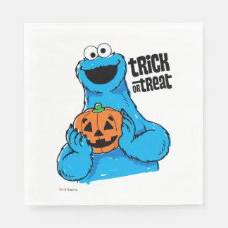 Serviette En Papier Monstre de biscuit - des bonbons ou un sort