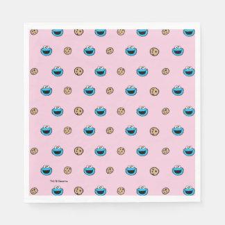 Serviette En Papier Monstre de biscuit et motif de rose de biscuits