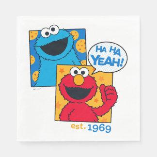 Serviette En Papier Monstre et Elmo de biscuit | ha ha ouais