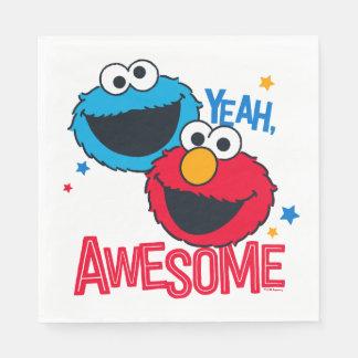 Serviette En Papier Monstre et Elmo de biscuit | ouais, je suis